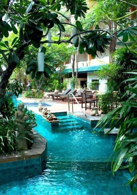 awesome backyard amazing pool looks like river home