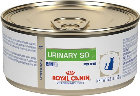 royal canin urinary so royal canin veterinary diet urinary so in gel canned cat food 5 8 oz of 24