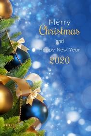 merry christmas  year card  customizable design templates postermywall