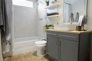 Builder grade bathroom transformation with lowe s amber