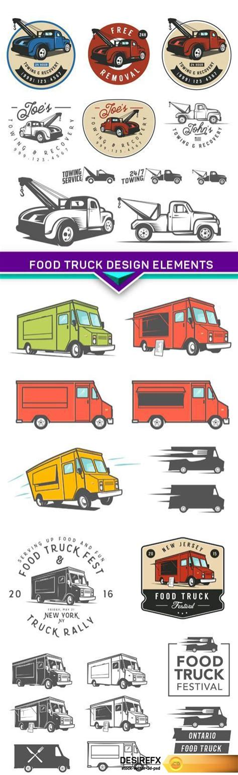 food truck design elements desire fx food truck design elements 3x eps