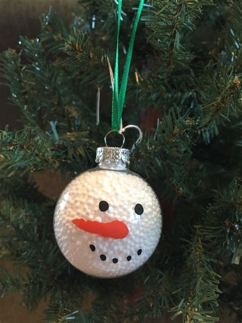small glass snowman face ball ornament by adorningdelights