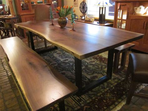 walnut live edge dining table