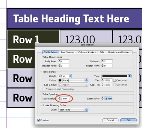 qt tutorial table quick tip how to make tables with rounded corners in indesign