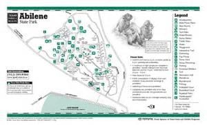 abilene state park map abilene mappery