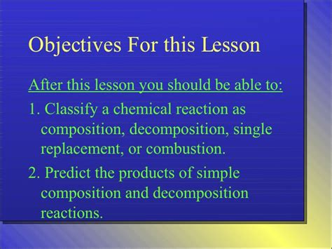 section 3 predicting the products of chemical reactions answers unit 5 part 2 types of chemical reactions