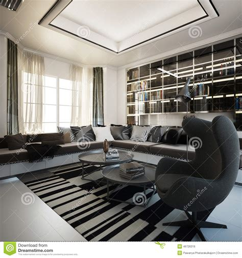 luxury modern living area interior design of haynes house by steve hermann los angeles living area interior design stock illustration image