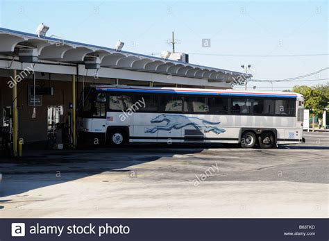 greyhound station america usa stock