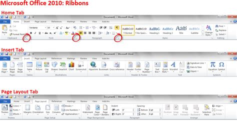 layout of microsoft word 2010 microsoft office 2010 ribbons computerguyjeff
