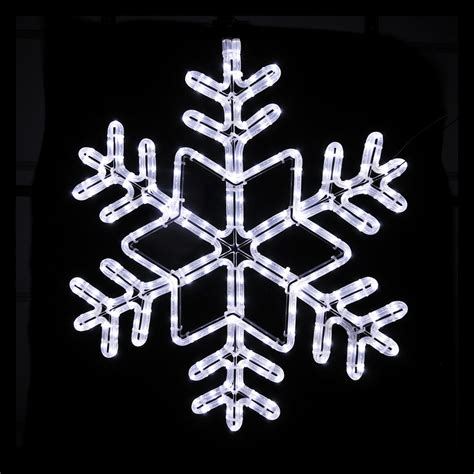 outdoor lighted snowflake decorations shop lighting specialists 24 in snowflake outdoor decoration with led white