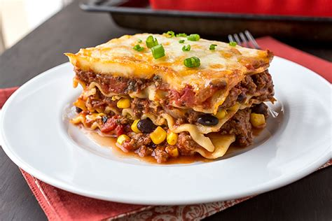 A Cozy Kitchen Lasagna For Two mexican lasagna with roasted tomato sauce the cozy