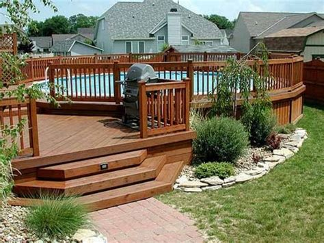 Landscape Deck Patio Designer Deck Landscaping Planting Shrubs And Trees Around Yo