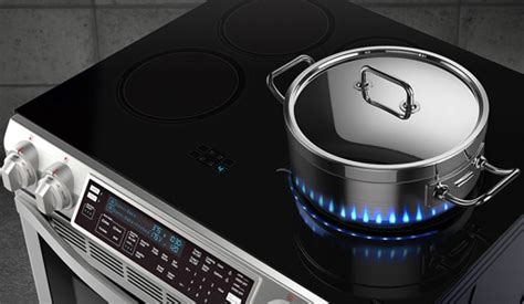 samsungs  induction stove features fake led flames techlicious