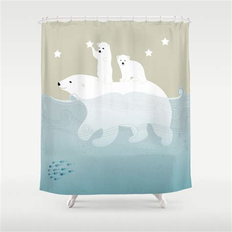 polar bear shower curtain polar bears shower curtain 71 in x 74 in animals ocean sea