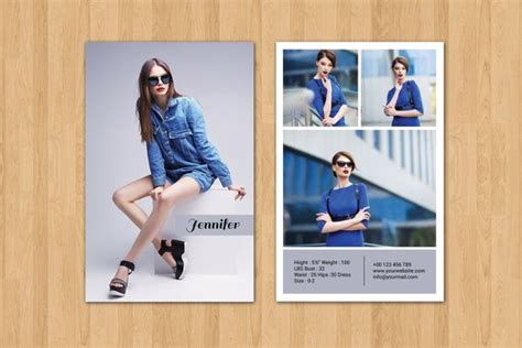 Comp Card Template Indesign by Modeling Comp Card Template Fashion Model Comp Card