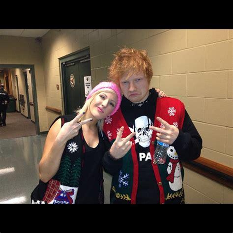 ed sheeran xmas jumper are ed sheeran and ellie goulding making music together