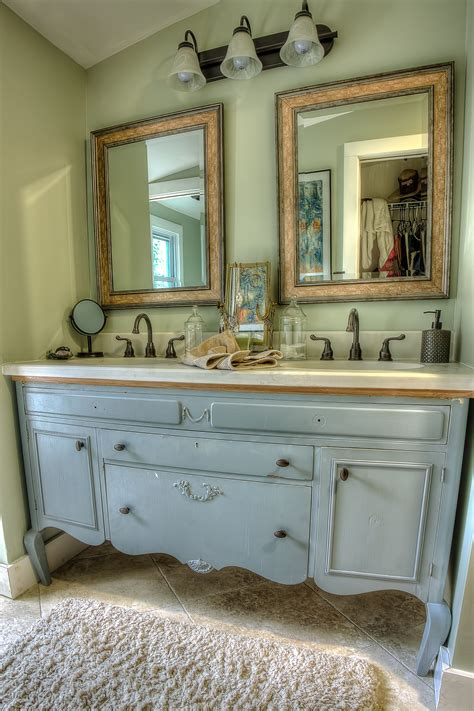 repurposed furniture for bathroom vanity repurpose furniture into bathroom vanity the inspired