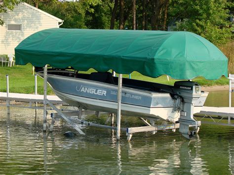 vibo boat lift canopy covers newmann boat lift canopies boatcovers