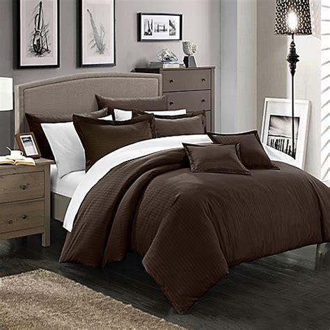 brown twin comforter buy chic home kanya 5 piece twin comforter set in brown