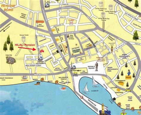 antalya map tourist attractions map of antalya turkey