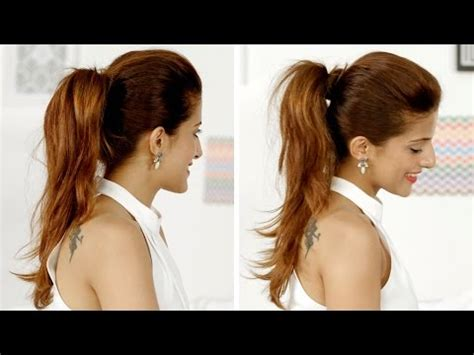 high ponytail with poof hairstyle 7 simple steps 2 how to do a high ponytail long hairstyles doovi