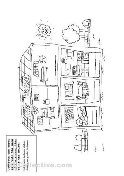 come to my house in spanish 13 best images of parts of the house worksheets for kindergarten worksheet label
