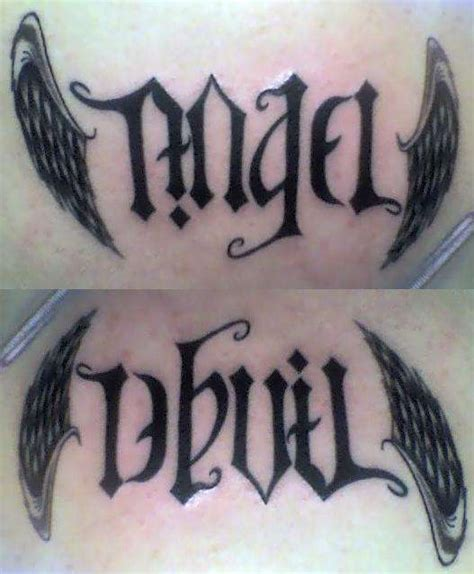 devil angel tattoo designs