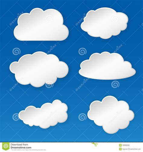 How To Make A Paper Cloud - paper cloud stock photo image 35663290