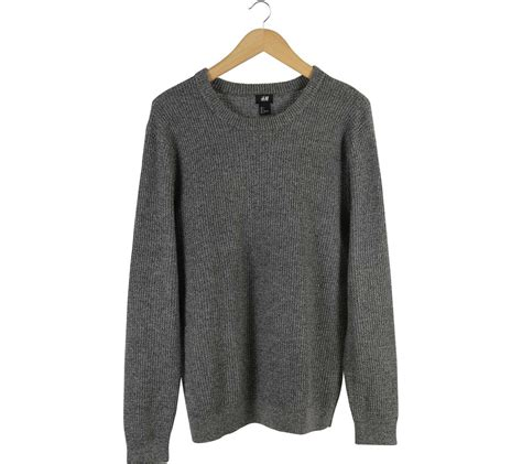 Atasan Knit As M h m grey knit sweater