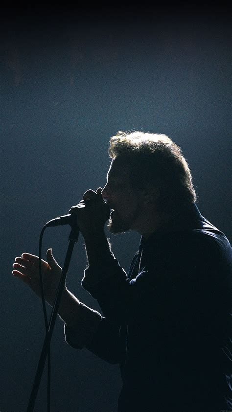 pearl jam singing  face android wallpaper android