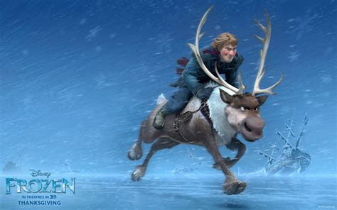 wallpaper frozen sven frozen movie pictures frozen movie kristoff sven hd