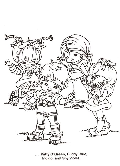 rainbow brite coloring pages free printable coloring pages rainbow brite az coloring pages