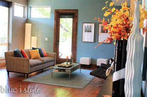 seasonal style fall home tour blue i style