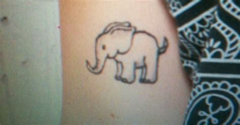 elephant tattoo urban outfitters elephant tattoo on urban outfitters model getting this