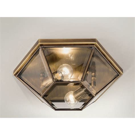 marsia hexagon ceiling light large in brass christophe