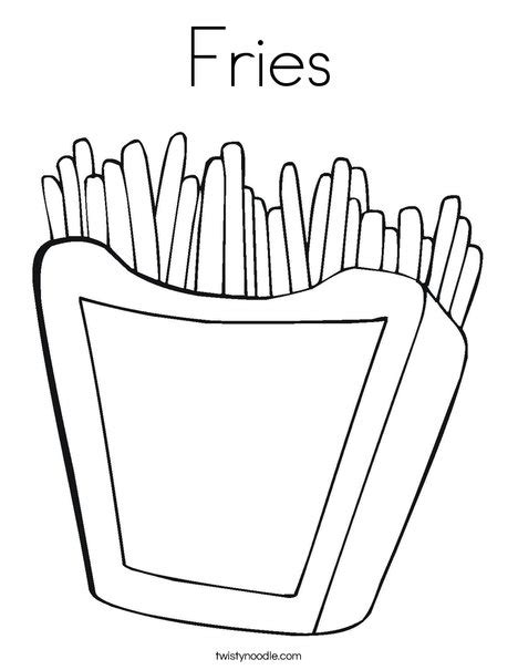 fries template fries coloring page twisty noodle