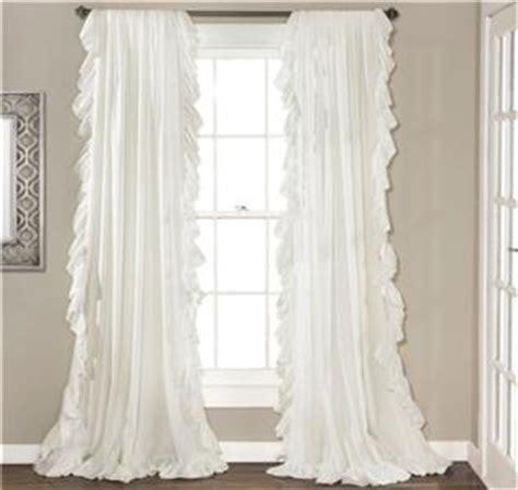 feminine curtains set of 2 curtain panels white romantic feminine ruffled