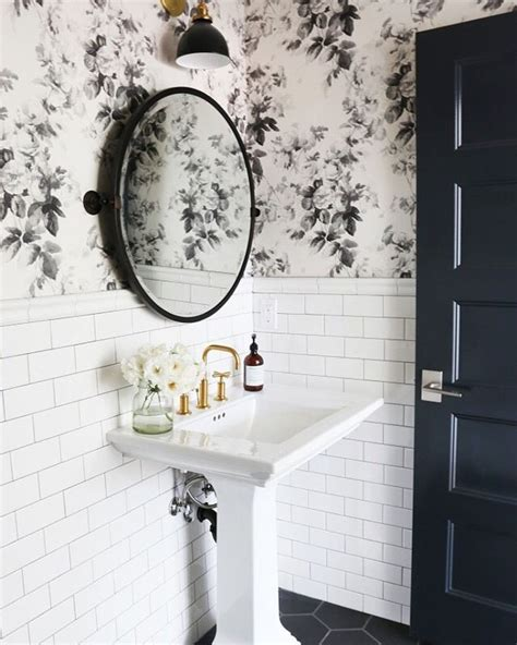 wallpaper for bathrooms walls how to combine wallpaper and tiles in the bathroom tile