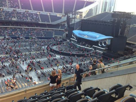 soldier field concert seating view soldier field section 309 concert seating rateyourseats
