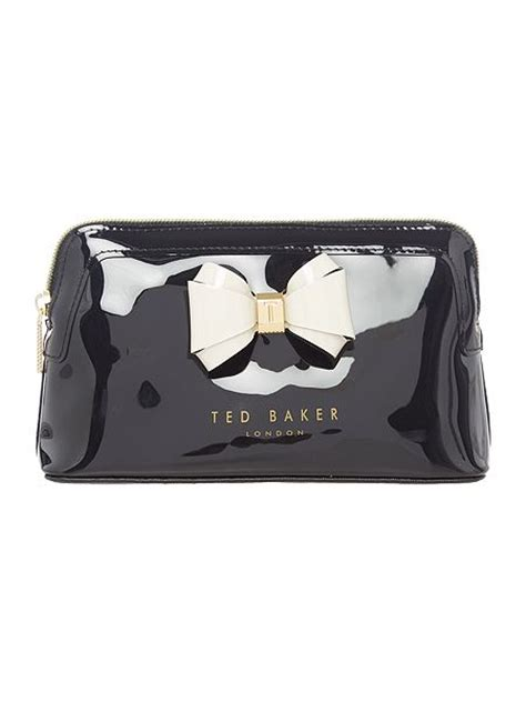 Bow Cosmetic Bag ted baker aimee small bow cosmetic bag black house of fraser