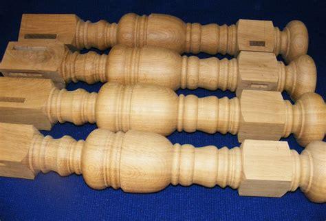 oak wood table legs turned furniture parts acorn woodturning