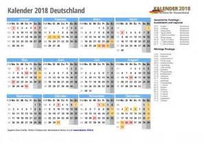 Kalender 2018 Deutschland Feiertage Kalender 2018 Mit Feiertagen Ferien Kalenderwochen