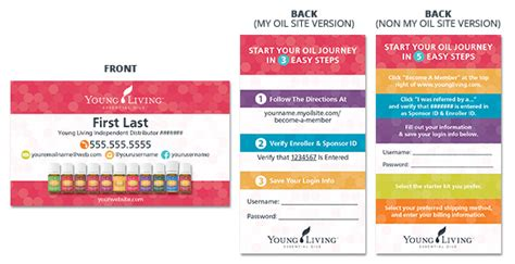 young living business cards style 4 kz swag shop