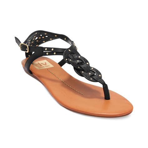 dolce vita flat sandals dolce vita dv by azania flat sandals in black lyst