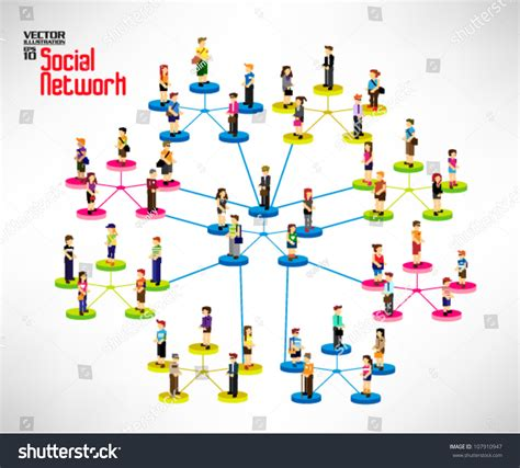 Search Email On Social Networks Conceptual Social Network With Many Icon Vector Design 107910947