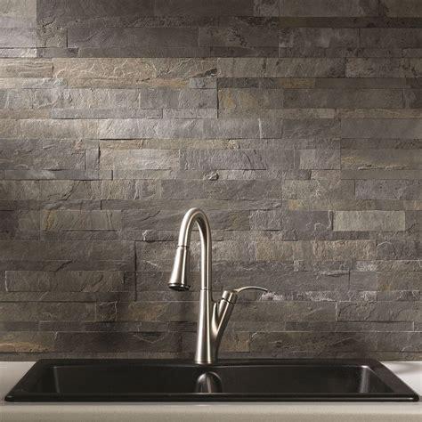 aspect 6 x 24 inch iron slate peel and stick stone