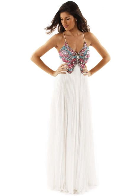 forever unique butterfly ivory chiffon backless