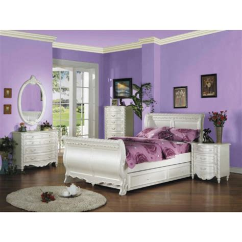 full size sleigh bedroom sets acme furniture 5 piece bedroom full size sleigh bed set
