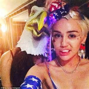 Backyard Bow Miley Cyrus Throws Wacky 4th Of July Celebration And Shows