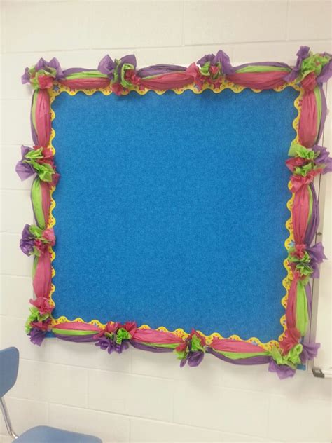 bulletin border made with tissue paper decorations pinterest bulletin board classroom